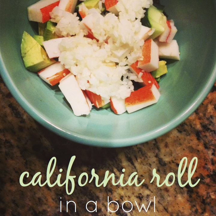 cali roll in a bowl