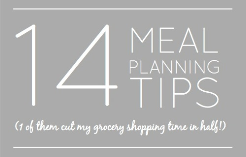 14 meal planning tips